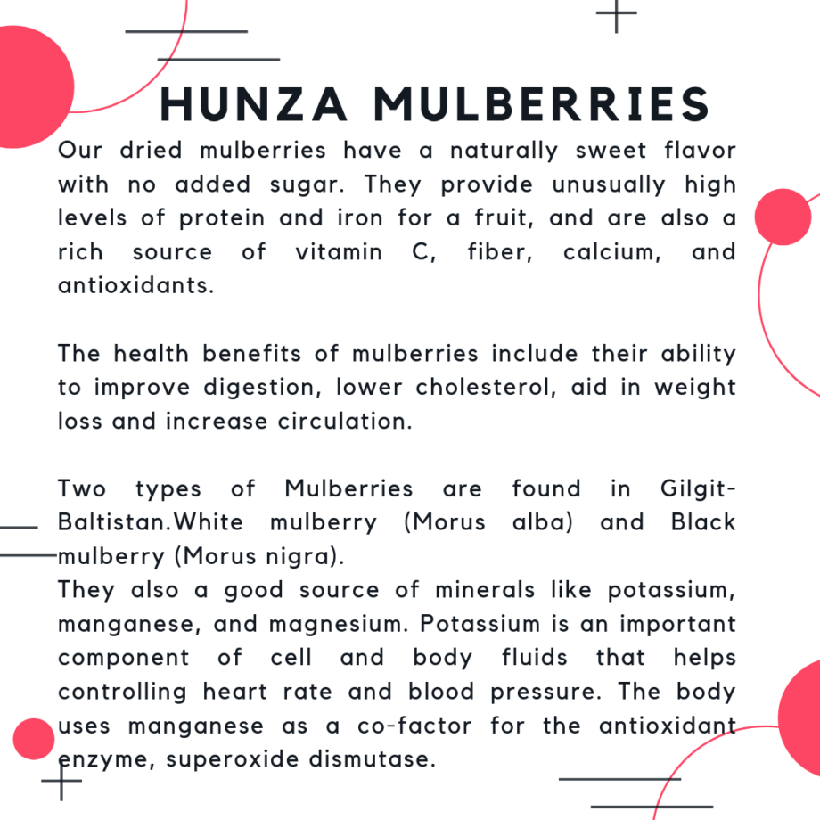 Dried Hunza Mulberries